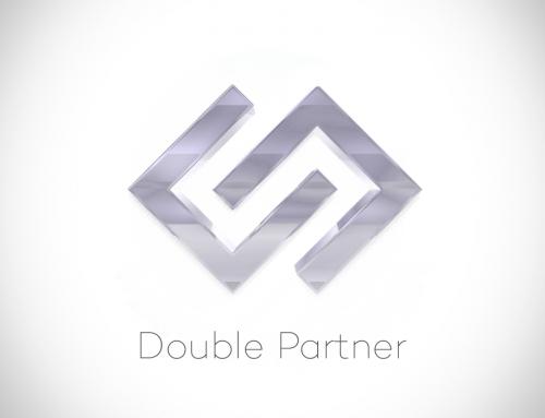 Double partner logo